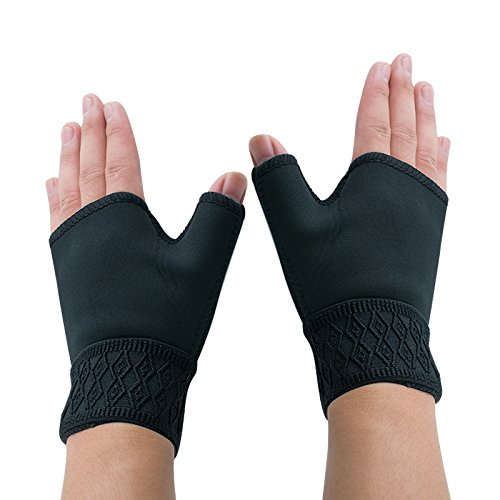 Finlon Sports Gloves 1Pair Anti-Arthritis Gloves Weight Lifting Gloves Sport Gloves Gym Semi Finger Gloves for Carpal Tunnel, Typing and Everyday Support