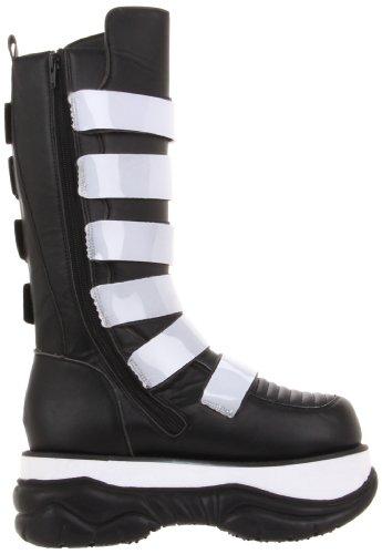DEMONIA NEPTUNE - 310UV homme 3 plate-forme UV-Longues bottes montantes intérieure zippée Noir