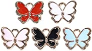 KESYOO 50Pcs Butterfly Charms Alloy Butterfly Craft Charms DIY Jewelry Making Accessories for Bracelet Necklac