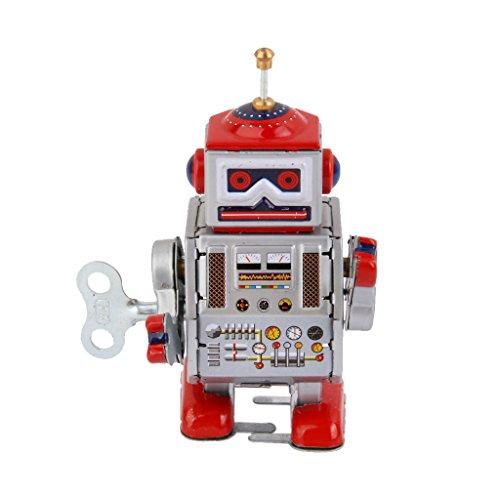 KESOTO Estilo Vintage Wind Up Tin Toy MS406 Mecánico Robot...