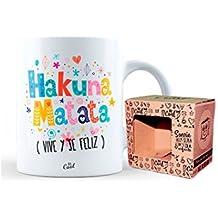 Mr Cool Taza en Caja Regalo en Mensaje Hakuna Matata Vive y Se Feliz, Cerámica, Multicolor, 15x10x5 cm