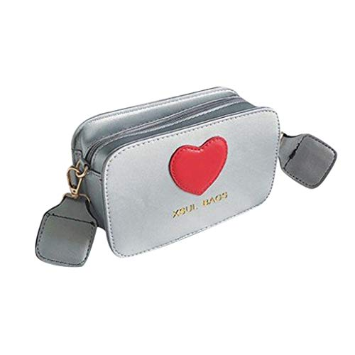 Mitlfuny handbemalte Ledertasche, Schultertasche, Geschenk, Handgefertigte Tasche,Pfirsich-Herz-Schulter-Beutel-Mädchen-Farbkollisions-Campus-Art-Handtasche der Frau modische