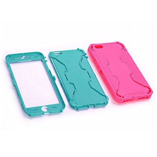 """JNTworld Coque iPhone 6/6S iPhone 6 Plus Armure du Etui Housse Bumper d'écran Stylet Case, iPhone 6/iPhone 6S, 4.7"""", Rose carmin Rose carmin"""