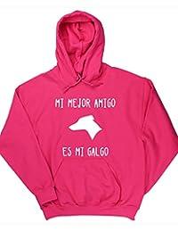 HippoWarehouse MI MEJOR AMIGO ES MI GALGO jersey sudadera con capucha suéter derportiva unisex