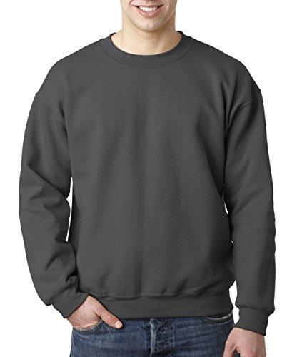 Adult DryBlend� 9.0 oz., 50/50 Fleece Crew CHARCOAL 3XL