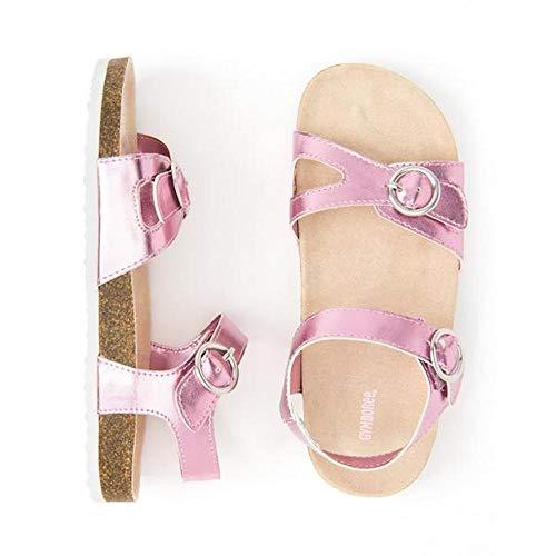 Gymboree Toddler/Little Girls Metallic Rose Metallic Sandals 8