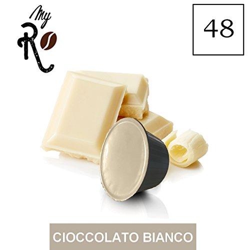 FRHOME - 48 Cápsulas compatibles Nescafé Dolce Gusto - Chocolate blanco - MyRistretto