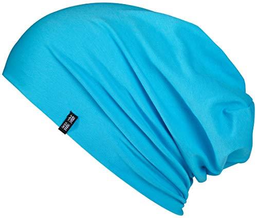 Enter the Complex Leichte Jersey Mütze, Damen und Herren, Slouch Beanie aus Baumwolle, Elastisch, L/XL, Himmel Blau - Aus Gestrickte Mütze Baumwolle