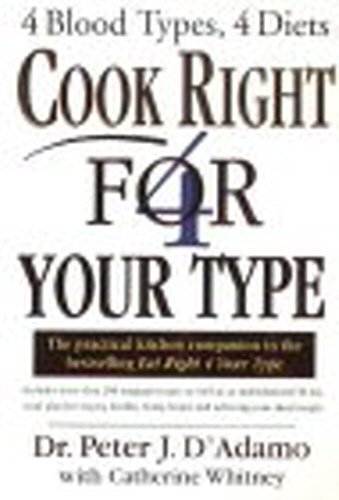 Cook Right 4 Your Type by Peter D'Adamo (2001-02-15)