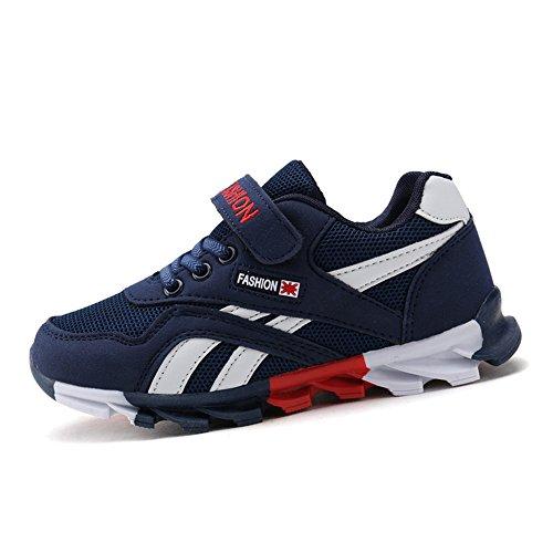 DUORO Kinder Sportschuhe Sneaker Jungen Mädchen Outdoor Atmungsaktive Turnschuhe Running Schuhe Straßenlaufschuhe (36, Dunkelblau)