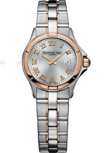 Raymond Weil 9460-SG5-00658 - Reloj analógico automático para mujer, correa de acero inoxidable chapado color plateado