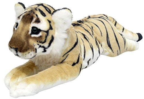 Wagner Plüschtier Tiger Baby - liegend - braun - 60 cm