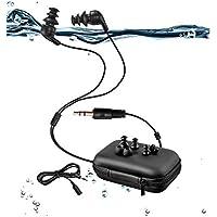 100% impermeable natación auriculares (auriculares) -short Cable, con 3 tipo auriculares para tipo de deportes (P.S: sólo impermeable auriculares sin reproductor de mp3) … (Short cord)