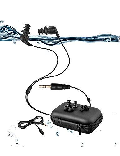 100% wasserdichter Schwimmkopfhörer (In-Ear) für Schwimmen, Laufen und alle Arten von Sport (PS: nur wasserfeste Kopfhörer ohne MP3-Player) (short) (Ps-player)