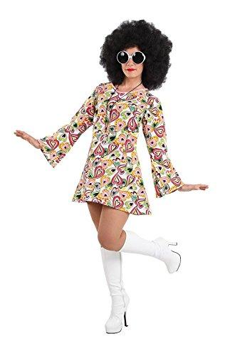 Imagen de disfraz hippie años 70 mujer  único, m