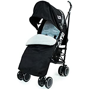 Zeta Citi Stroller Buggy Pushchair - Black (Complete With Footmuff + Raincover) by Baby Travel