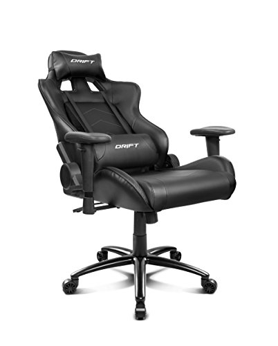 Drift DR150B - Silla Gaming Profesional, (Poilipiel Alta Calidad, Ergonómica), Color Negro