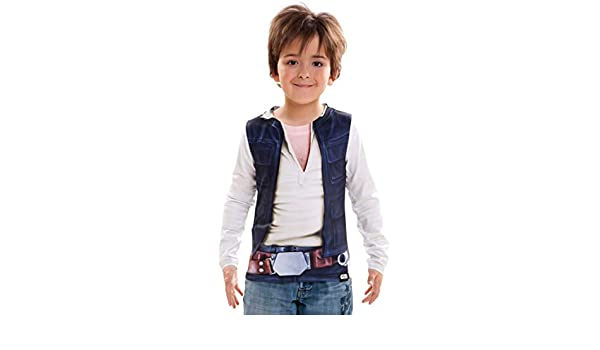 Viving Costumes 231055 Han Solo Boy Long Sleeve T-Shirt Multi Color 2-4 Years One Size