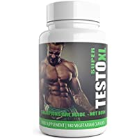 TESTO XL 180 Pills 3 Months Supply of Testosterone Boosters for Men Testro Booster Capsules - Advanced muscle Gain Supplement Contains Natural ingredients Tribulus Terrestris Test Level Increaser - Used By athletes and bodybuilders for an extreme boost to Libido Muscle, Strength & Weight Gain. Testo T3 Pack Natural Male Enhancement Pills.UK Manufactured Testx core