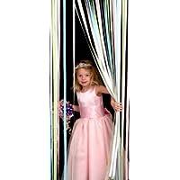 Holland Plastics Original Brand Tube Type Door Curtain,Bug Blind,Fly Blind,Strip Blind-PASTEL MULTI
