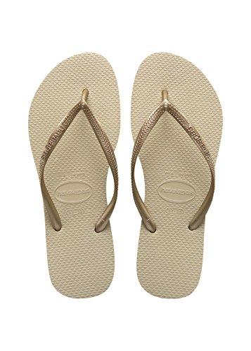 Havaianas Slim Infradito Donna, Oro (Sand Grey/Light Golden 2719), 37/38 EU (35/36 Brazilian)