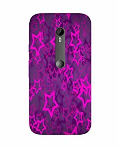 Back Cover for Moto X Force PINK STAR