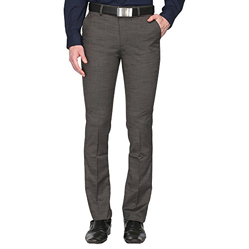 STOP To Start By Shoppers Stop Mens 4 Pocket Slub Grey Trousers