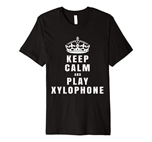 Keep Calm Xylophon Spieler Lehrer Xylofon T-Shirt I Geschenk