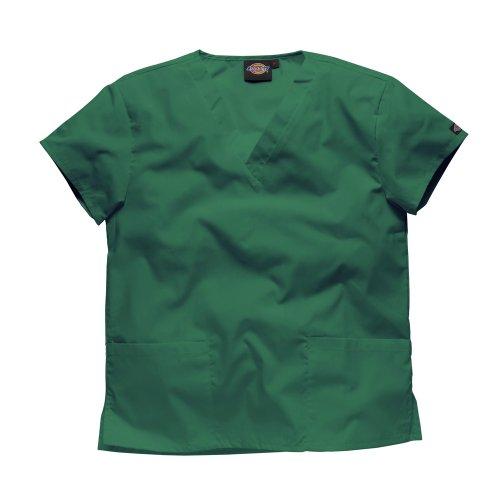 DICKIES WORKWEAR Schlupfhemd Medizin 2 Taschen mit V-Ausschnitt M Flaschengrün