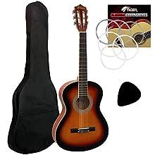 Tiger 3/4 Classical Guitar for Beginners in Sunburst