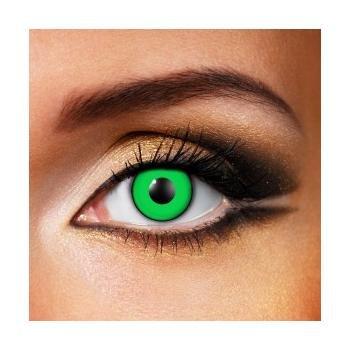 Paio di lenti a contatto colorate Green Manson lenti a contatto unisex Verdi finte senza diottrie in soluzione salina wildcat durata 3 mesi lenti a contatto per carnevale e halloween o scherzo lenti a contatto decorative