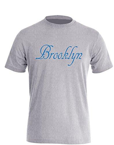 Brooklyn - Herren TShirt Grau / Blau