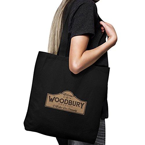 Planet Nerd - Welcome To Woodbury - Stoffbeutel, schwarz