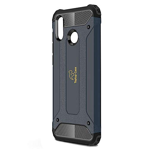 Toptup Case Huawei Rugged Armor Protection Shockproof Phone Back Bumper Cover Cases for Honor Play 2018 (Navy Blue)