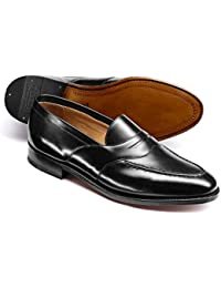 Black Goodyear Welted Saddle Loafer by Charles Tyrwhitt