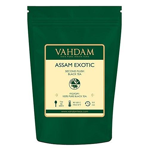 VAHDAM, Assam Tea Leaves with Golden Tips, (50 Cups) 100g | Strong, Malty & Rich Black Assam Tea | Exotic Assam Loose Leaf Tea | 100% Certified Pure Assam Black Tea | English Breakfast Tea