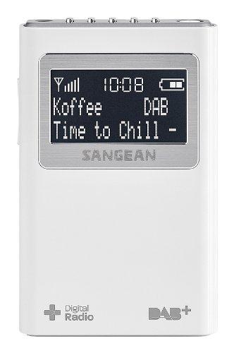 Sangean DPR-39 tragbares DAB+ Digitalradio weiß