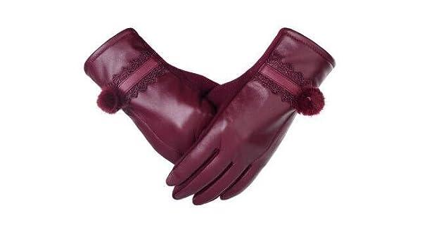 Guanti di lana lavorati a magliaGuanti natalizi in pizzo e guanti in fodera  di velluto 45ebba25ff1c
