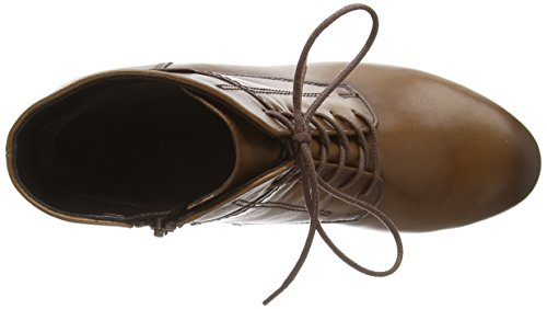 644 Braun sattel Stiefel effekt Shoes Gabor Damen 22 Kurzschaft 35 TYUf4xqEn