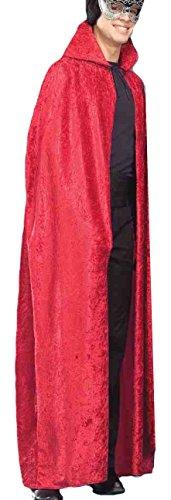 Forum Novelties 56-inch Red Velvet Cape, Red, One Size - 56 Zoll-red Velvet