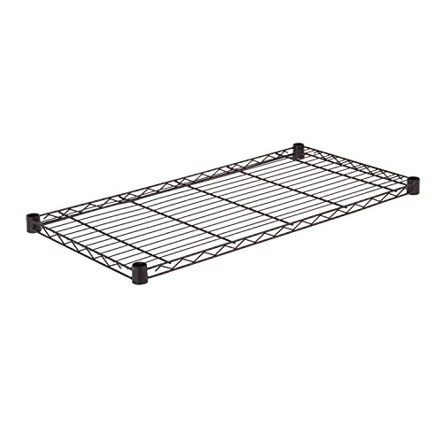 Honey-Can-Do SHF350B1836 Steel Wire Shelf for Urban Shelving Units, 350lbs Capacity, Black, 18Lx36W by Honey-Can-Do -