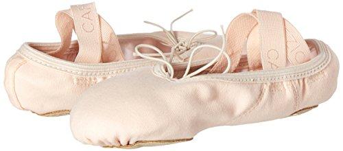 Capezio Sculpture II Leinen Ballettschläppchen mit geteilter Sohle Rosa