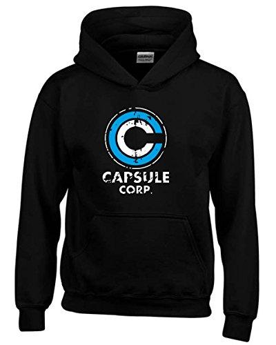 T-Shirtshock - Felpa hoodie bambino TGAM0049 Logo capsule corp, Taglia 9-11anni