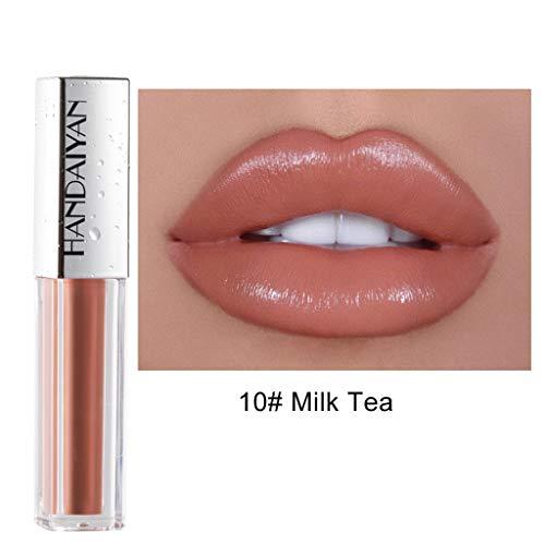 Lippenstift TTLOVE Wasserdichte Langlebige Lipgloss FlüSsige Samt Liquid Lipsticks, Matte Makeup Lip Farben FlüSsigkeit HäLt Sehr Lange Lipstick