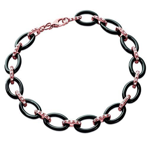 Les Trésors De Lily [L6285 - Vergoldet armband 'Sissi' sauger rosa.