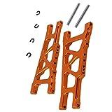 Magideal Sospensione Controllo A-bracci Posteriore Inferiore Per TRAXXAS 1:10 SLASH 4X4 e HQ727 Short RC Car 12cm SLA007 Lega - arancia