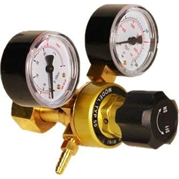 Disposable Mini Regulator Argon Gas Cylinder Reducer CO2 Mig Tig Welding Flow