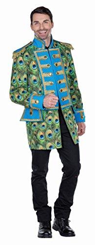 Pfau Kostüm Herren - Mottoland Herren Kostüm Uniform Jacke Pfau
