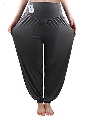 Fitglam Soft Yoga Harem Pilates Pants Hippie Bloomer Pant Womens Lounge Leggings Long Baggy Trousers