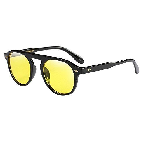 Frashing-Sonnenbrillen Unisex Vintage Mode Metallrahmen Verspiegelt Linse Herren Damen Sonnenbrille...